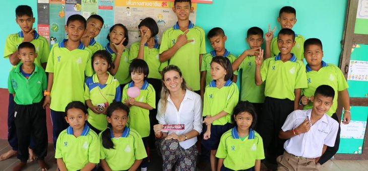 A world full of love by Leticia Zotto at Bannonghoi School, Thailand2018